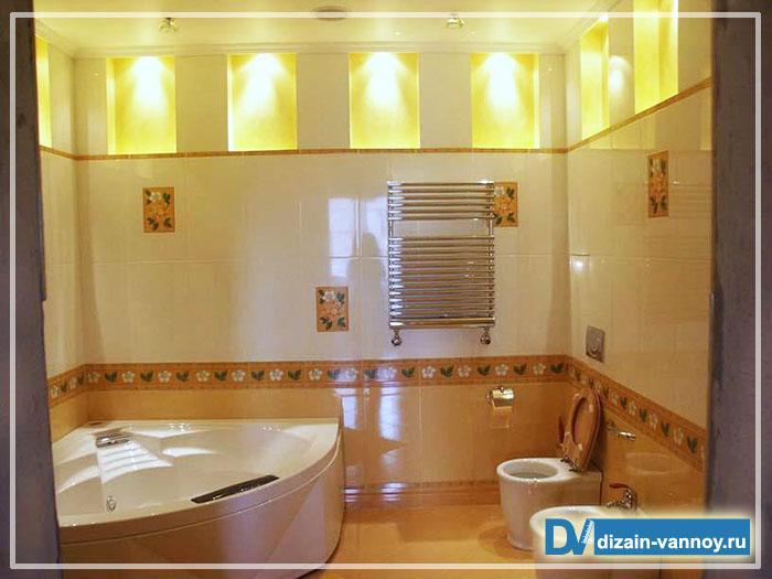 зонирование туалета и ванной