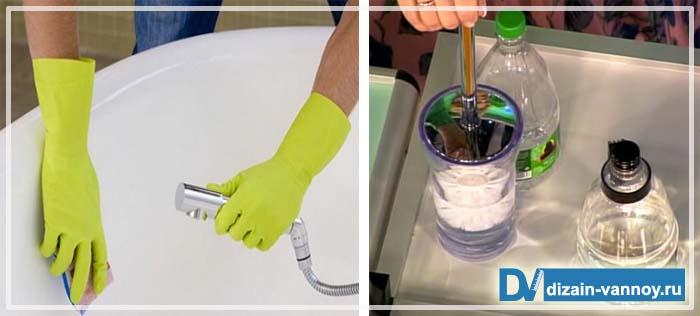как почистить ванну кальцинированной содой