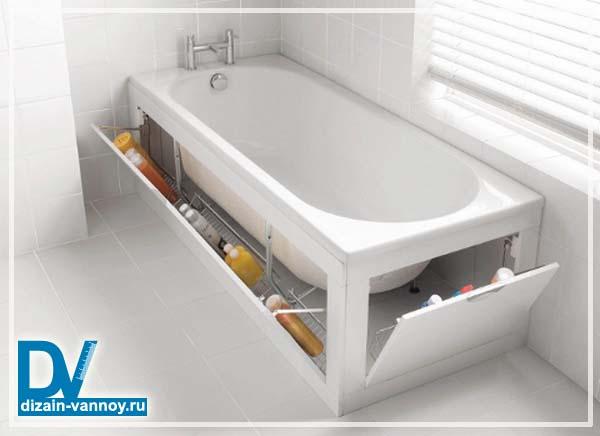 короб из гипсокартона под ванну
