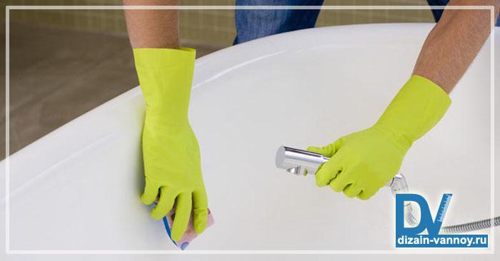 как очистить ванну от налета