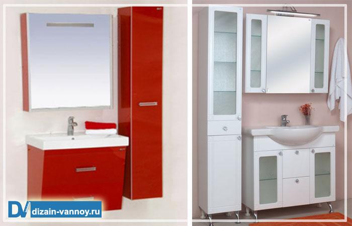 шкафчики для ванной комнаты фото