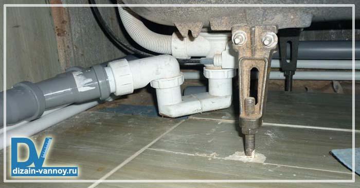 как подсоединить ванну к канализации