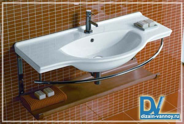встроенные полки в ванной фото