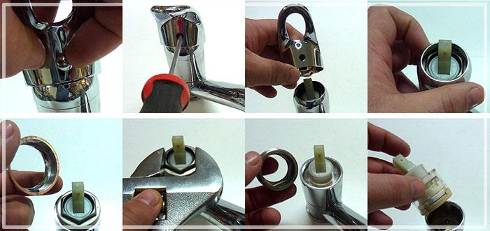 как отремонтировать кран в ванной