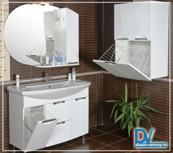 шкафы для хранения в ванной