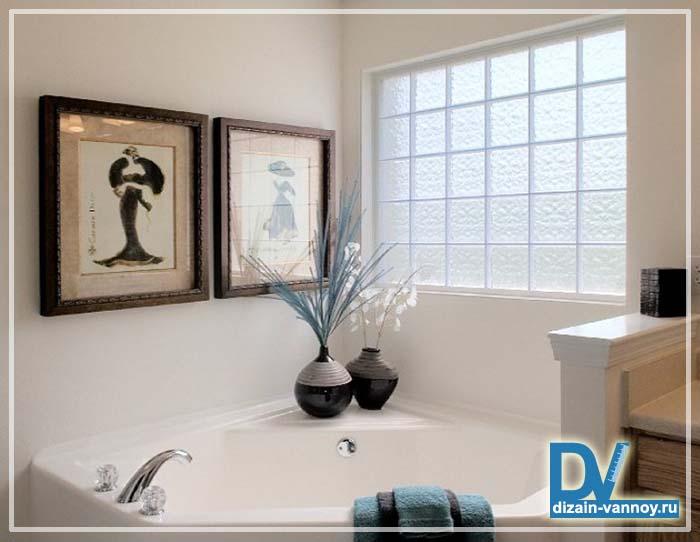 стеклянный кирпич в ванной