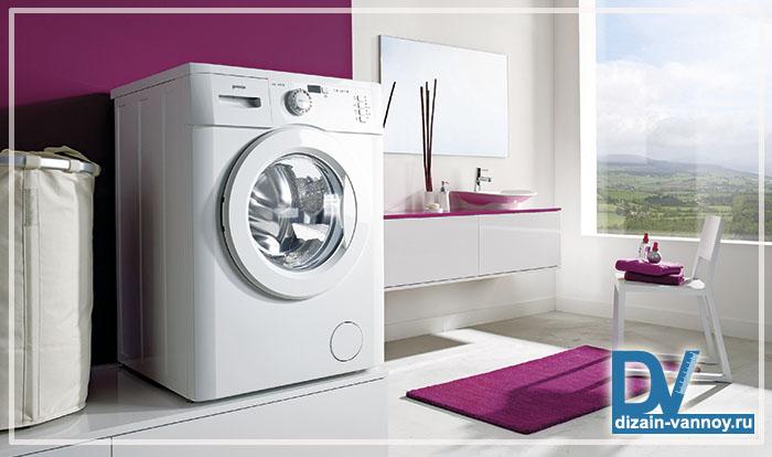 стиральная машинка в ванной фото