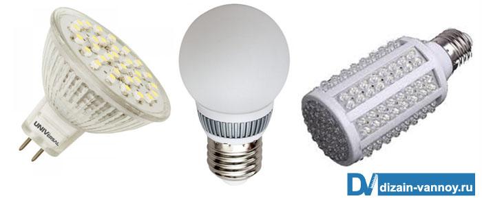 светильники в ванную фото