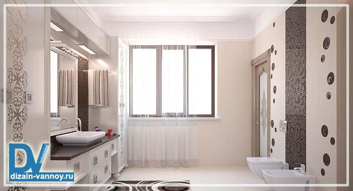 дизайн ванных комнат в коттеджах