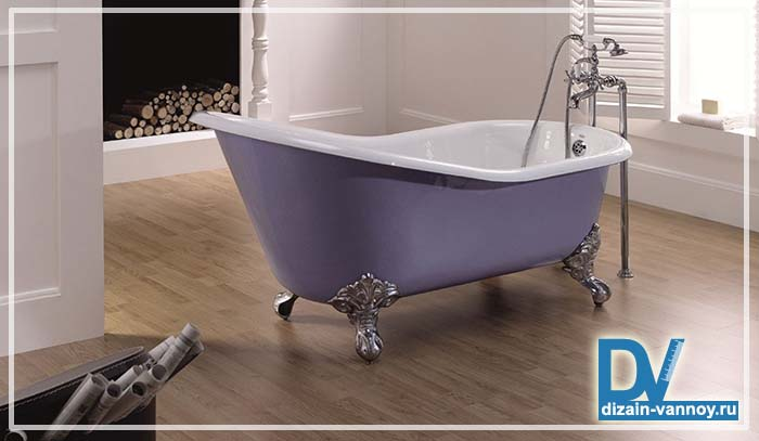 классические ванны на ножках