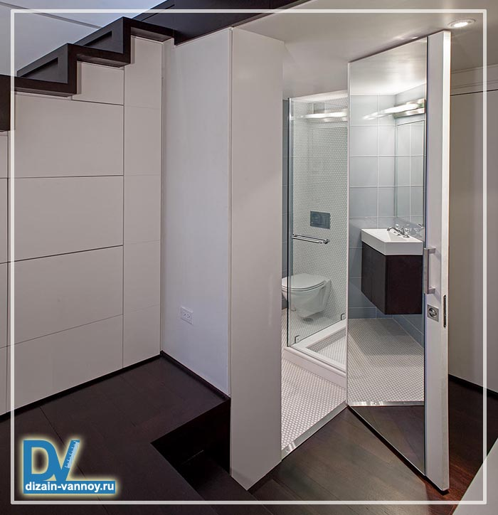 ванная комната под лестницей фото