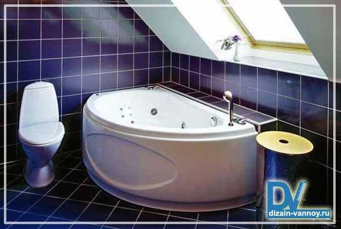 мансардные ванные комнаты фото
