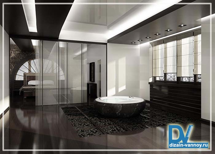 спальня с ванной комнатой