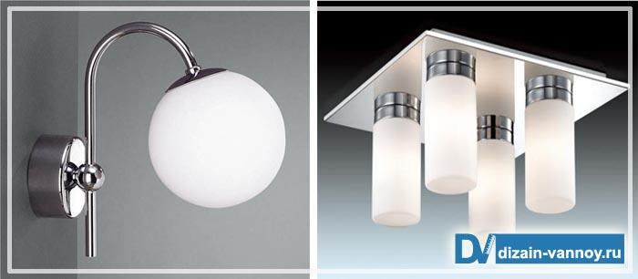 водонепроницаемые светильники для ванной