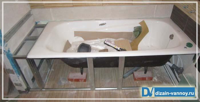 встраиваемая ванна овальная