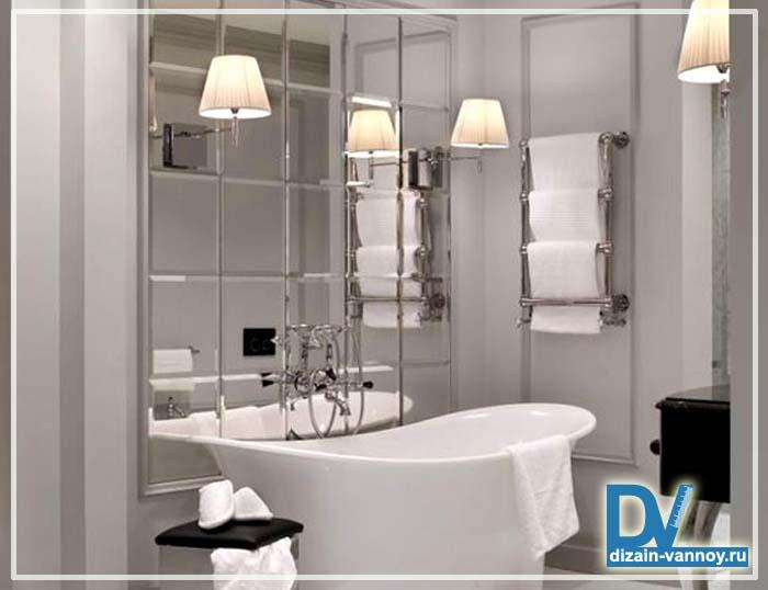 ванна зеркальная