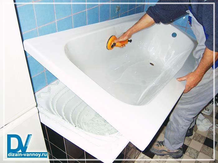 ремонт чугунной ванны акрилом отзывы