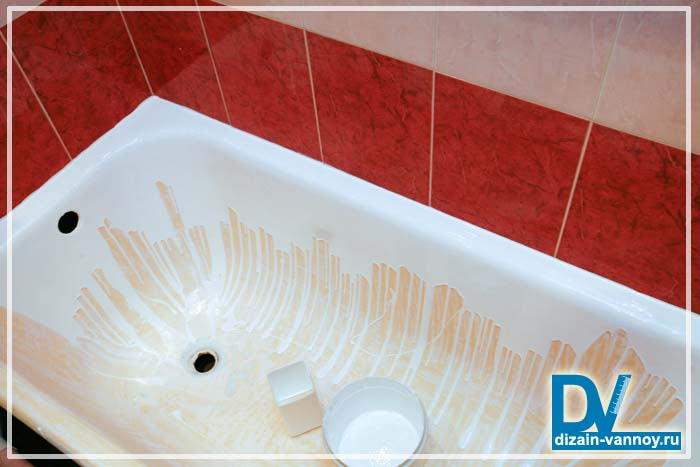 заливка чугунной ванны акрилом