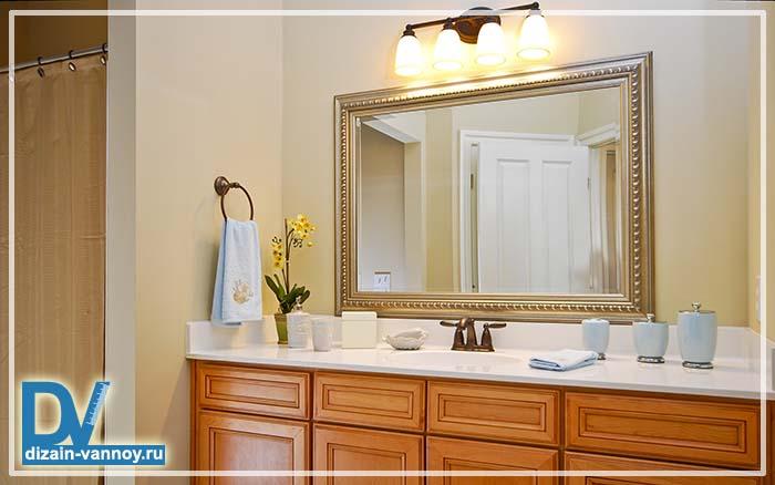 большие зеркала в ванную комнату