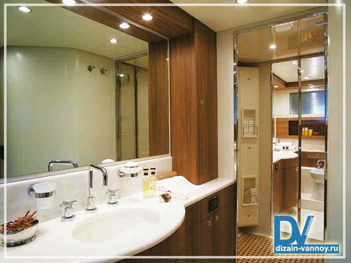 большое зеркало в ванную комнату