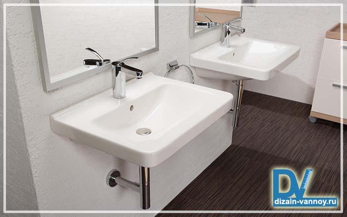 ванная с двумя раковинами фото