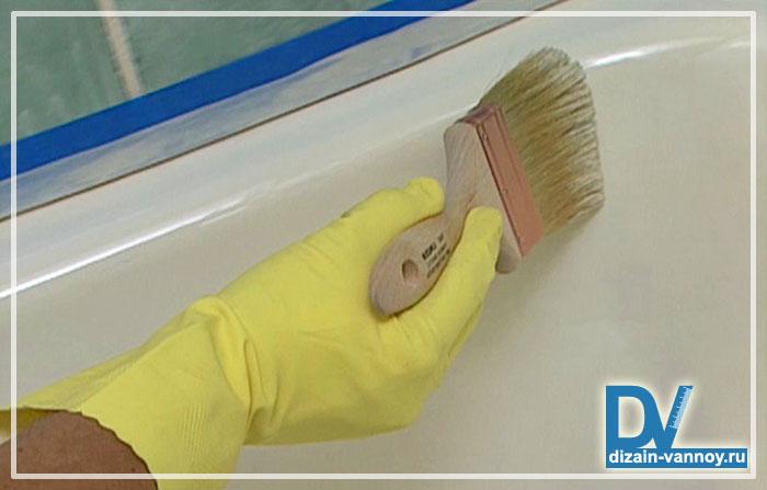 как покрасить ванную
