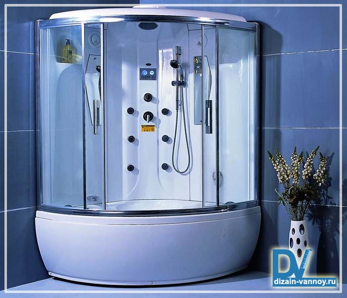душевая кабина с гидромассажной ванной