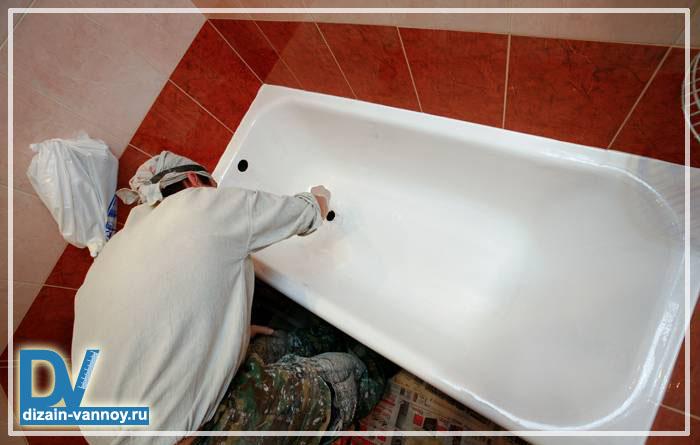 чем покрасить чугунную ванну внутри