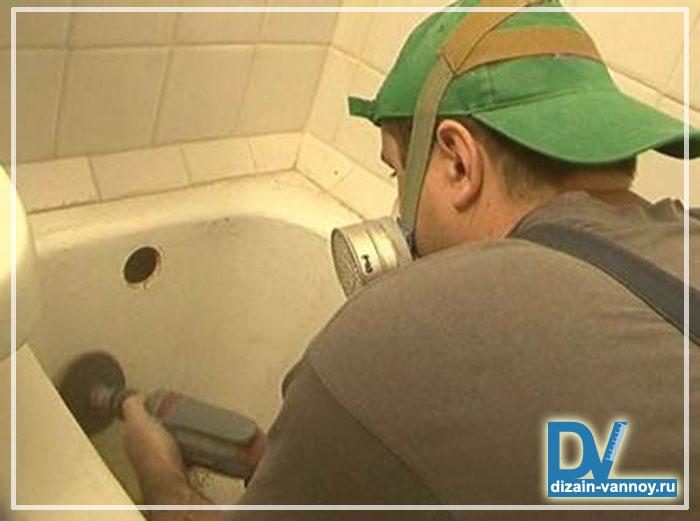 реставрация ванны жидким акрилом видео