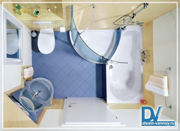 ванная с душевой кабинкой фото
