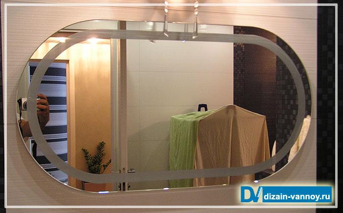 зеркало овальное в ванную комнату