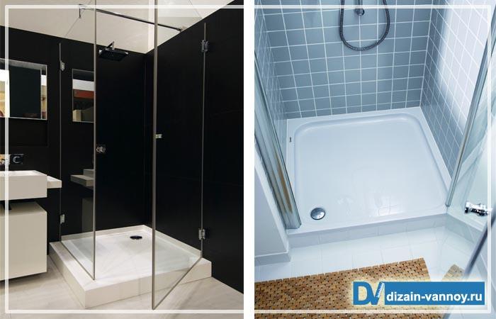 поддоны в ванную комнату фото