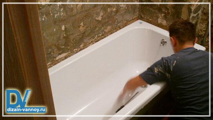 сколько стоит покрасить ванну акрилом