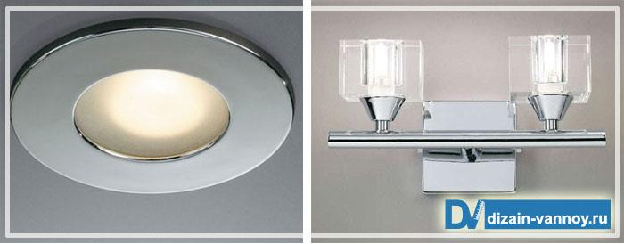 встраиваемые светильники потолочные для ванной