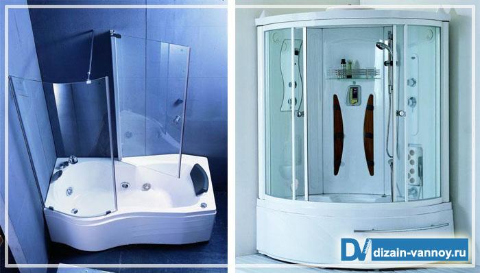 душевая кабина ванная угловая