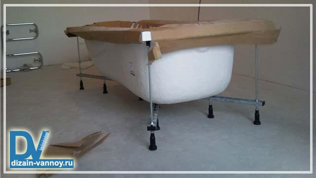 установка ванны под плитку
