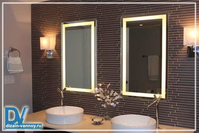 зеркало с полками в ванную