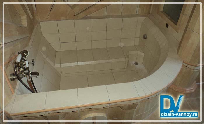 самодельная ванна из плитки