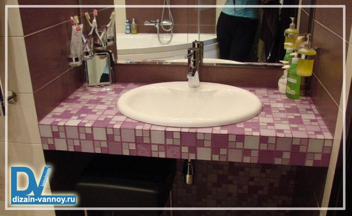 столешница в ванной из гипсокартона