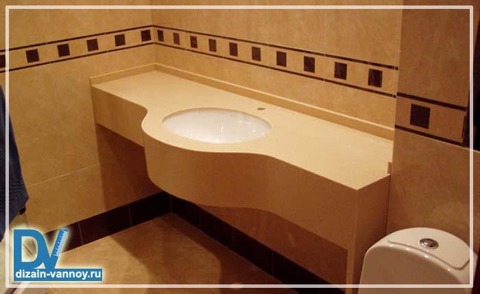 каменная столешница в ванную фото