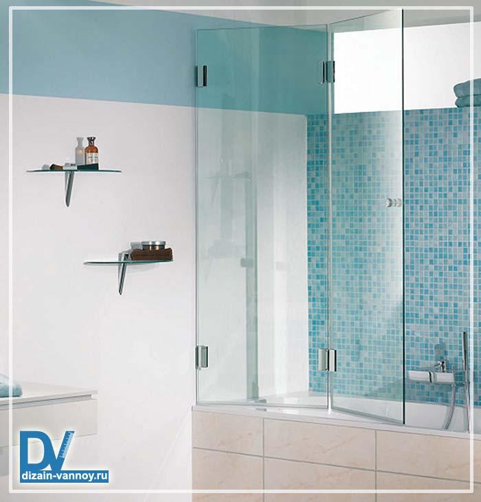 шторы для ванной стеклянные