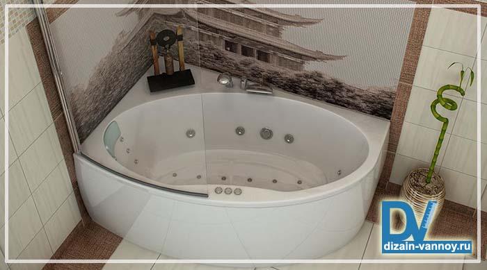 ванны угловые ассиметричные