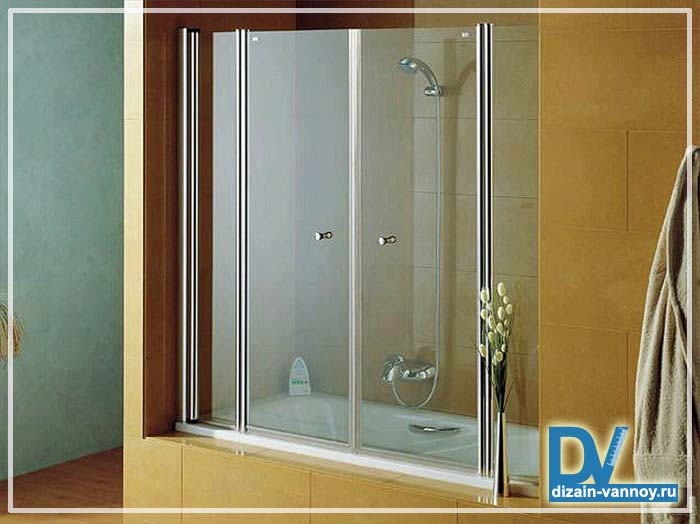 шторки для ванной раздвижные стеклянные