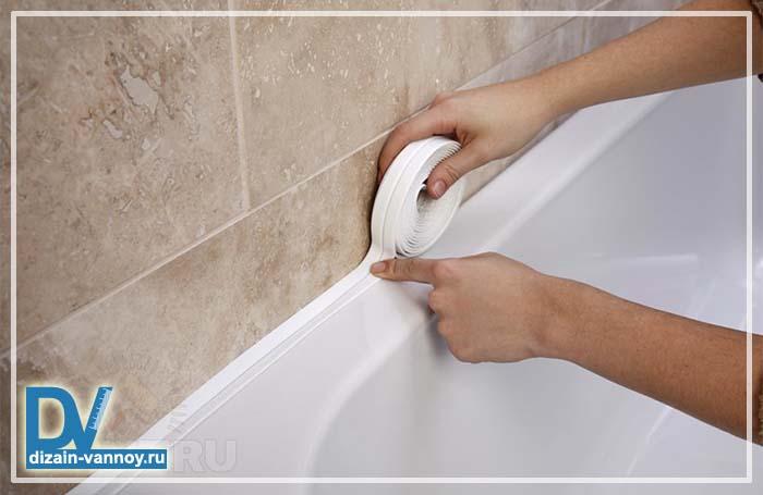 плинтус между ванной и стеной