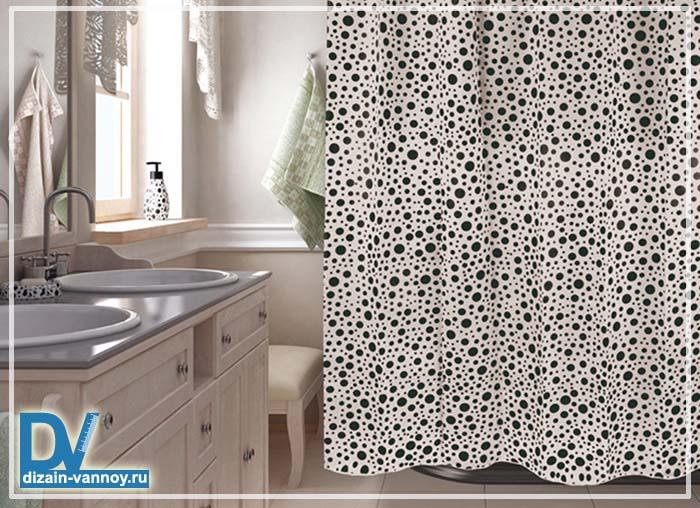 шторы для ванной тканевые