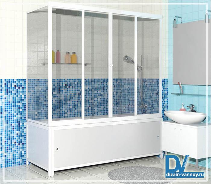 ванна с пластиковыми шторками