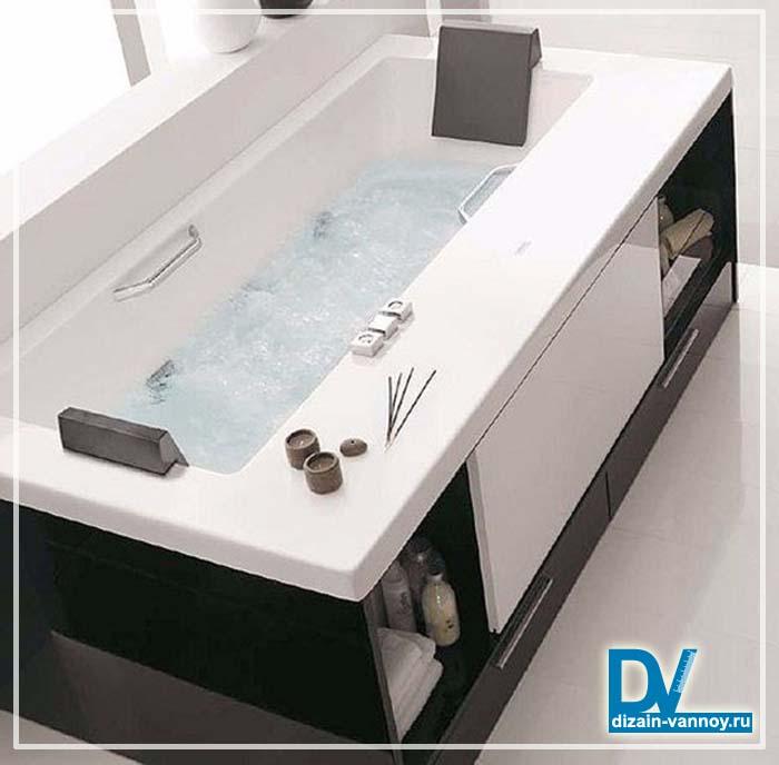 деревянный экран под ванну