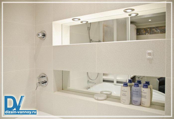 ниши в ванной комнате