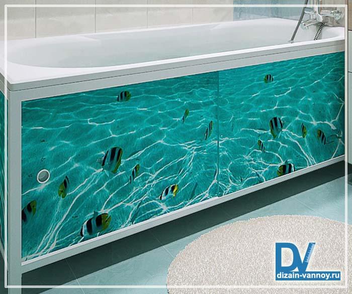 акриловый экран для ванной