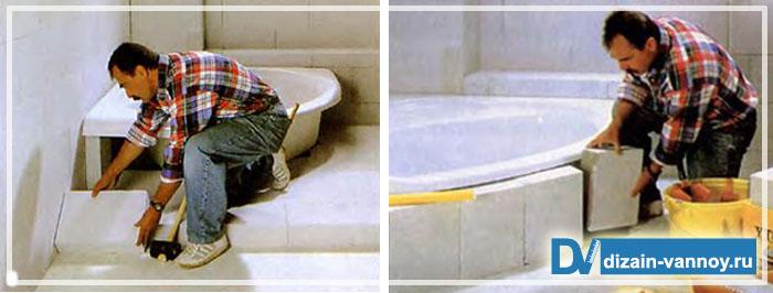ванна на подиуме фото